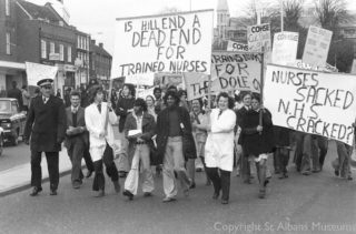 Demonstration by Hill End Nurses,1976 | St Albans Museums