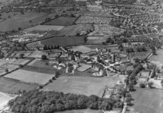 An aerial view of Hill End Hospital?