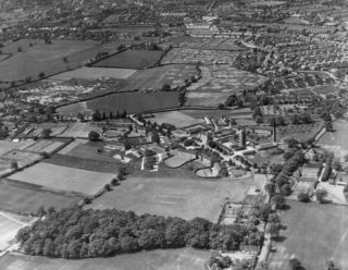 An aerial view of Hill End Hospital? | English Heritage