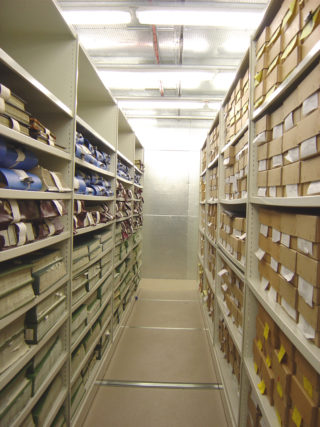 The storage area where the records are preserved   HALS