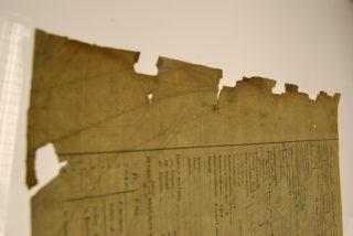 Detail of damage before repair   Haley McHaffie