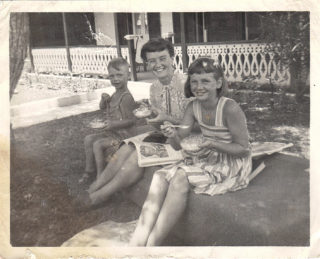 Dad (aged 3), nan and Maureen, Bermuda. This was taken before they came over to Hertford so dad could have his procedures.