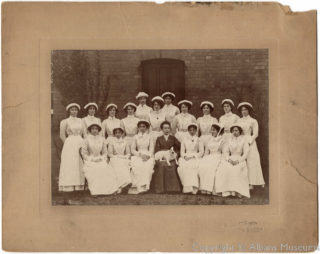 Nurses at Hill End Hospital, 1904 | St Albans Museums