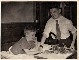 Dad and Reg Law at Hill End Hospital.