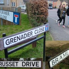 Previous orchard at Hill End Hospital inspired road names.