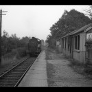 N7 tank engine without freight passing the derelict Hill End Halt, east of St Albans, November 1959. | Michael Covey-Crump