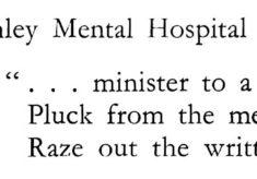 Shenley Hospital Press Cuttings