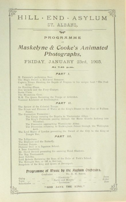 Maskelyne & Cooke's Animated Photographs | Hertfordshire Archives and Local Studies