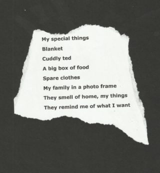 Poem written by a participant from St Peter Street Day Centre | out of sight out of mind project
