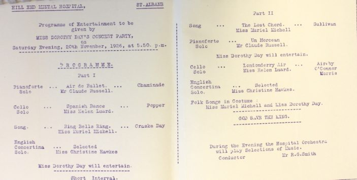 Miss Dorothy Day's Concert Party [HM1/A10/1] | Hertfordshire Archives and Local Studies