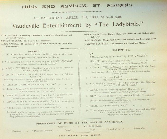 Vaudeville Entertainment by