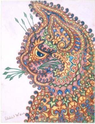 Byzantine Cat by Louis Wain | Copyright St Albans Museums